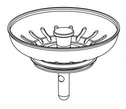 Franke Lira Spare Plug For Basket Strainer Waste Old Style